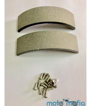 Накладки тормозных колодок ЯВА с заклепками (пара)