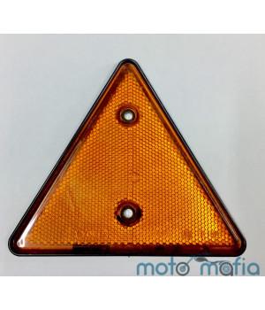 Катафот треугольный оранжевого цвета.