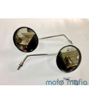 Зеркала хромированные круглые Карпаты (пара)