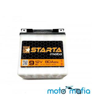"""Аккумулятор 12V9A сухо заряженный """"STARTA"""" плоская клемма под болт. Производство Украина."""