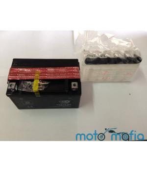 Аккумулятор 12в 7а.ч. сухо заряженный с электролитом в комплекте