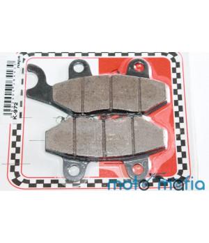 Тормозные колодки дисковые (2х поршневой суппорт крючек влево)