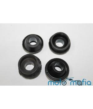 Комплект косых резинок на штанги Урал черные (4 штуки)