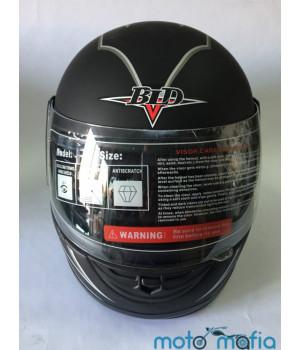 Шлем с бородой BLD (черный матовый)