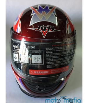 Шлем с бородой BLD (красный)