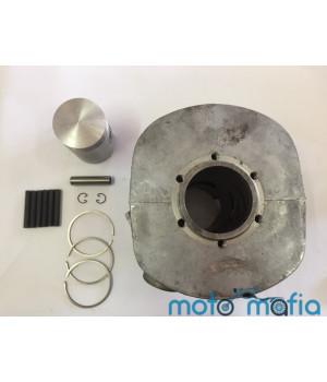 Цилиндр ИЖ Планета-4 в сборе (поршень,кольца,пальцы,стопорные кольца) комплект производство Россия