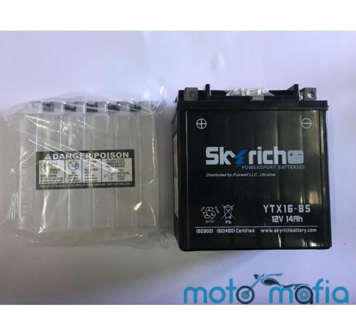 """купить Аккумулятор сухо заряженный 12V 14A """"Skyrich"""" с электролитом в комплекте"""