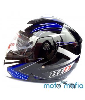 Шлем BLD трансформер (черно-синий)