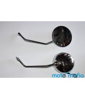Зеркала круглые металлические, хромированные пара (резьба 10мм)