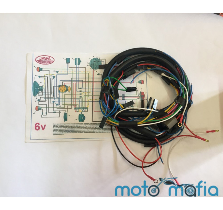 Проводка электрооборудования Ява 6V