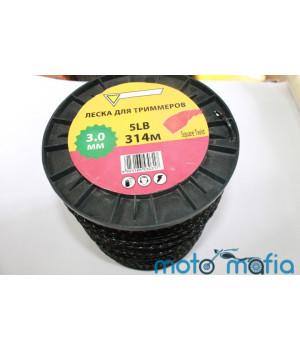 Леска для мотокосы плетенка диаметр 3мм (1метр)